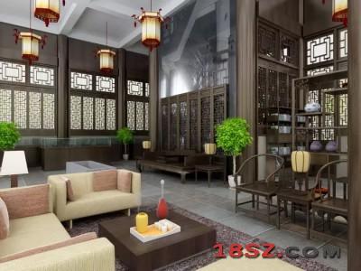单色中式卧室设计