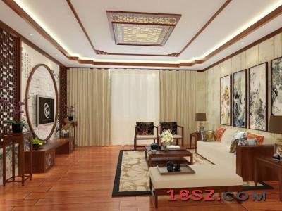 花纹客厅中式设计