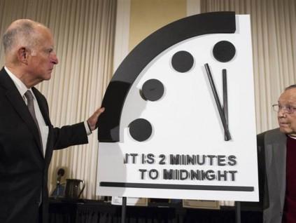 末日钟拨快20秒 创73年来最接近人类毁灭的时刻