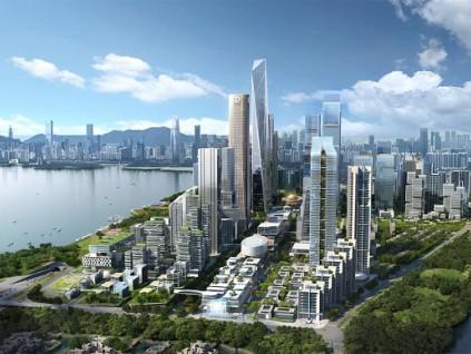深圳湾超级总部基地去年引资近2百亿 呈现未来城市形象