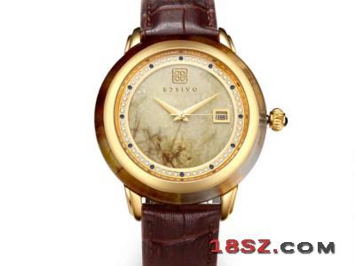 宝时福金发晶机械腕表