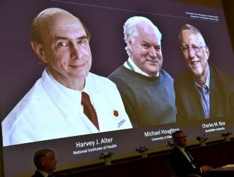 美英三科学家 共享2020年诺贝尔医学奖