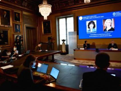 开发基因编辑技术 美法两女学者共享诺贝尔化学奖