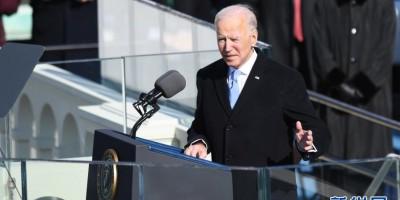 拜登与贺锦丽就任美国第46任总统与副总统