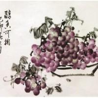 国画葡萄-醇香可掬