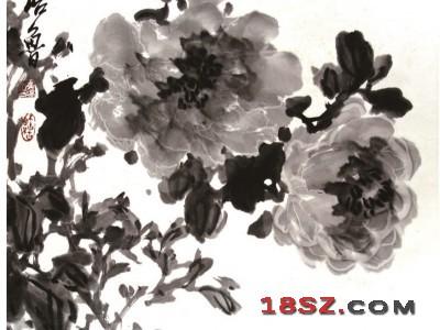 国画牡丹-清香可掬