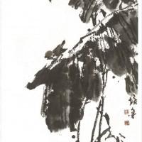国画蕉荫雀鸣