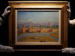 裘莉拍卖邱吉尔战时唯一风景画 近830万英镑天价成交