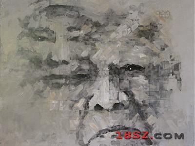 长征者-老红军刘洪辉油画