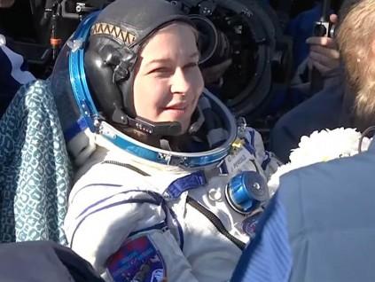 首部实景太空电影拍摄结束 俄罗斯导演与女星返回地球