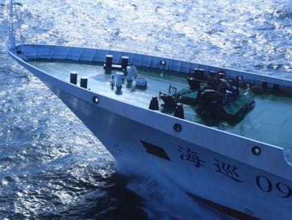 中国首艘万吨级海事巡逻船「海巡09」轮列编
